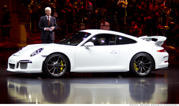 The new Porsche GT3 at the Geneva Motor Show