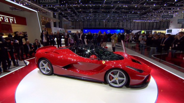 The brand new LaFerrari unveiled at the 2013 Geneva Motor Show.