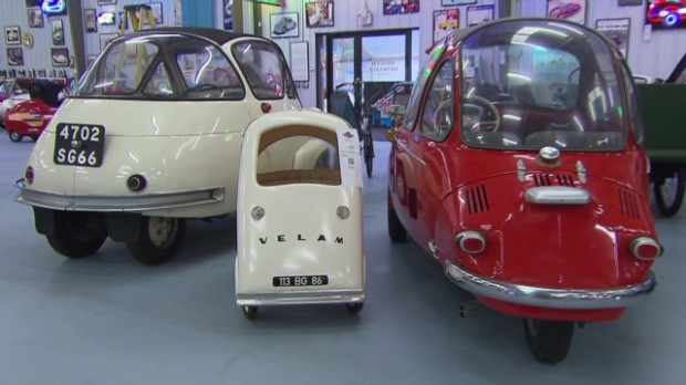 Inside the largest collection of the tiniest cars in the world.