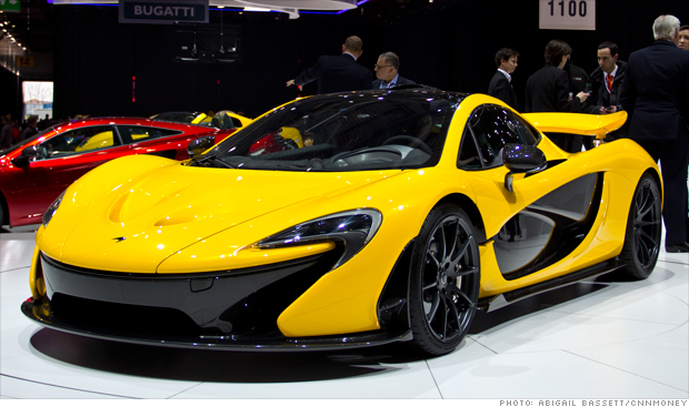 The McLaren P1 super car at the 2013 Geneva Motor Show.