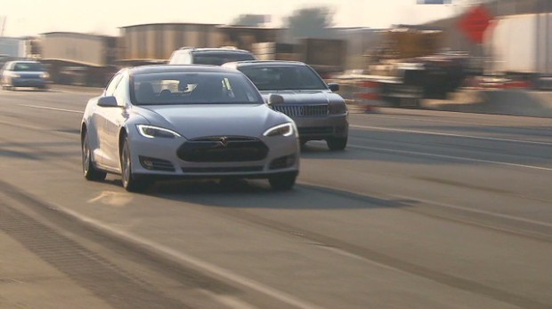Driving a Tesla Model S from DC to Boston.