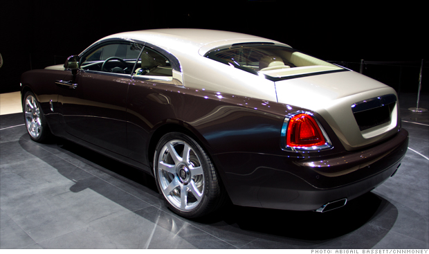 The brand new Rolls Royce Wraith unveiled at the 2013 Geneva Motor Show.